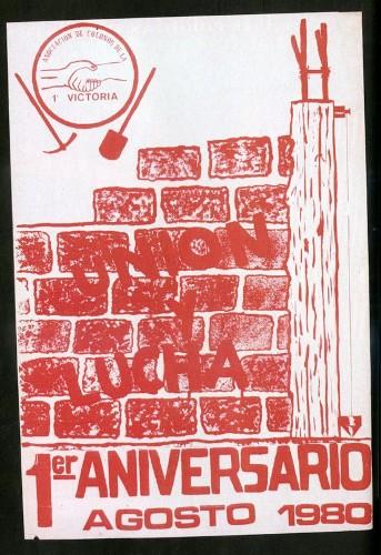 Imagen de Cartel Primer aniversario agosto 1980 (atribuido)