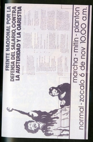 Imagen de Cartel Frente Nacional por la Defensa del Salario, contra la Austeridad y la Carestía (atribuido)