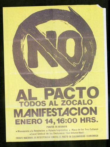 Imagen de Cartel No al pacto todos al Zócalo manifestación (atribuido)