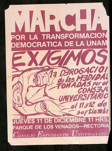 Imagen de Cartel Marcha por la transformación democrática de la UNAM (atribuido)