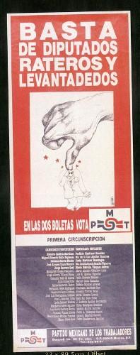 Imagen de Cartel Basta de diputados rateros y levantaderos (atribuido)