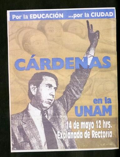 Imagen de Cartel Por la educación… por la Ciudad Cárdenas en la UNAM (atribuido)