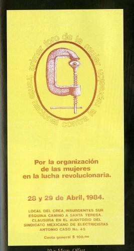 Imagen de Cartel Primer foro de la mujer frente nacional contra la represión (atribuido)