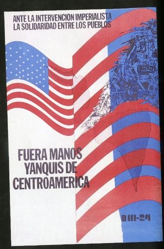 Imagen de Cartel Fuera manos yanquis de Centroamérica (atribuido)