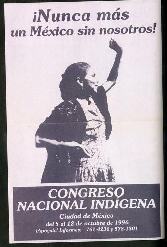 Imagen de Cartel ¡Nunca más un México sin nosotros! Congreso Nacional Indígena (atribuido)
