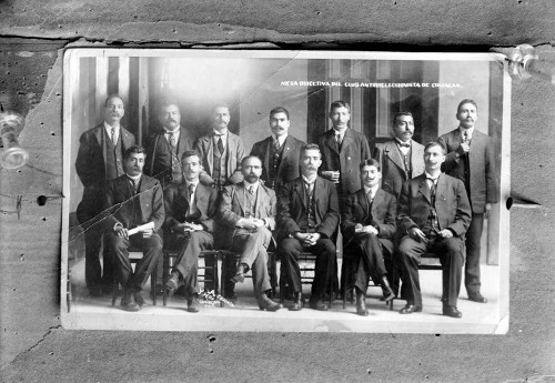 Imagen de Francisco I. Madero con la mesa directiva del Club Antirreeleccionista  de Culiacán, retrato de grupo