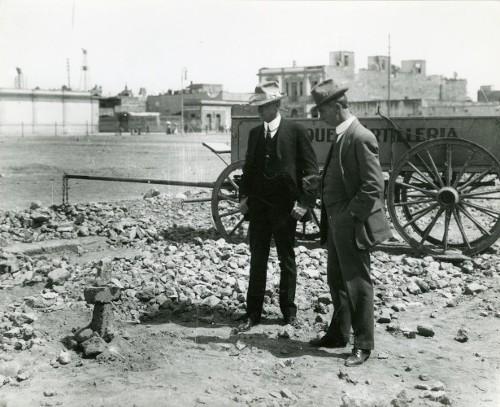 Imagen de Hombres en donde fue asesinado Gustavo A. Madero