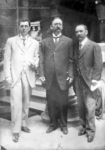 Imagen de Francisco I. Madero (Sr.) Y sus hijos Gustavo y Francisco