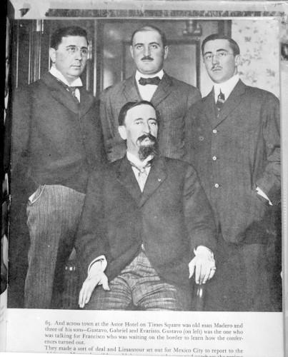 Imagen de Francisco Madero en compañía de sus hijos, retrato de grupo