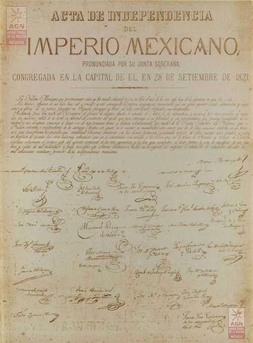 Imagen de Reproducción del Acta de Independencia