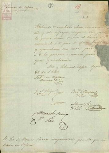 Imagen de Expediente 013: Compromisaria por la Quinta Sección de Oaxaca