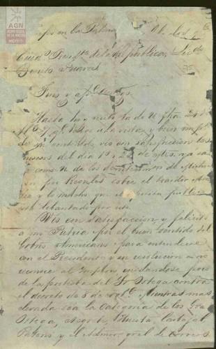 Imagen de Expediente 075: Carta de Ramón Corona a Benito Juárez