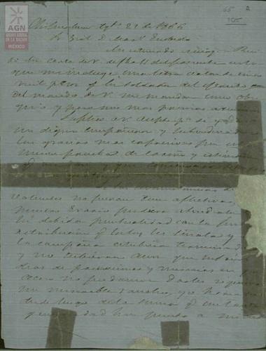 Imagen de Expediente 105: Carta del Presidente Juárez al General Mariano Escobedo
