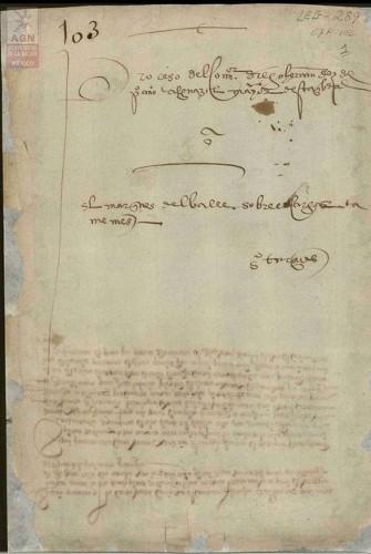 Imagen de Expediente 103: Proceso iniciado por el Comendador Diego Hernández contra Hernán Cortés