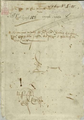 Imagen de Expediente 8: Petición del Marqués del Valle sobre el fenesimiento del pliego de resolución de sus cuentas