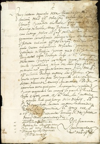 Imagen de Exp.33 Requisición al Comisario de Veracruz para ratificación de unos testigos en el caso de Fray Martín Gasco