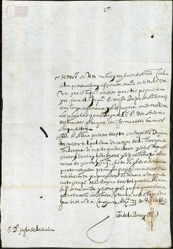 Imagen de Exp.78 Carta de Juan de la Paraya