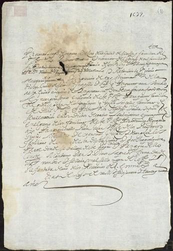 Imagen de Exp.165 Joseph de Morera, familiar del santo oficio en Sevilla, pide se le anexe al Gremio de familiares en Mexico