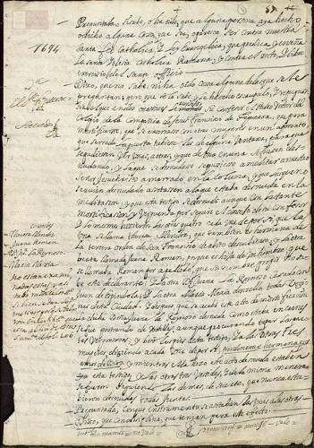 Imagen de Exp.174 Denuncias y ratificaciones de varias mujeres contra su confesor