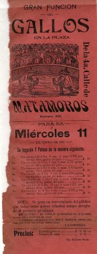 Imagen de La Plaza de la 4ª calle de Matamoros presenta: Gran función de gallos