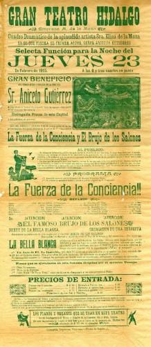 Imagen de El Teatro Hidalgo presenta: El brujo de los salones y La fuerza de la conciencia