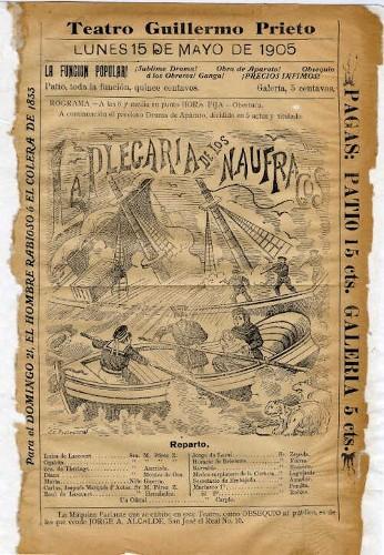 Imagen de El Teatro Guillermo Prieto presenta: La plegaria de los náufragos