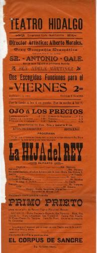 Imagen de El Teatro Hidalgo presenta: La hija del rey
