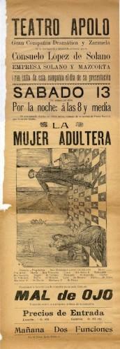 Imagen de El Teatro Apolo presenta: La mujer adúltera