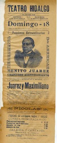Imagen de El Teatro Hidalgo presenta: Juárez y Maximiliano