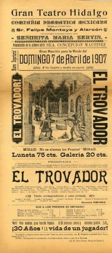 Imagen de El Teatro Hidalgo presenta: El trovador