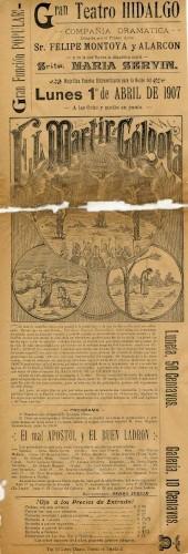 Imagen de El Teatro Hidalgo presenta: El mártir del Gólgota
