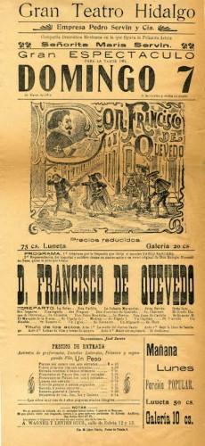Imagen de El Teatro Hidalgo presenta: Don Francisco de Quevedo