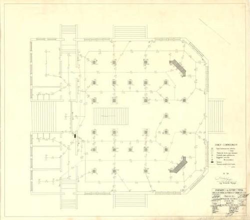 Imagen de Proyecto de instalación eléctrica oculta del museo forestal, de caza y pesca, elaborado por A. C. Jiménez.