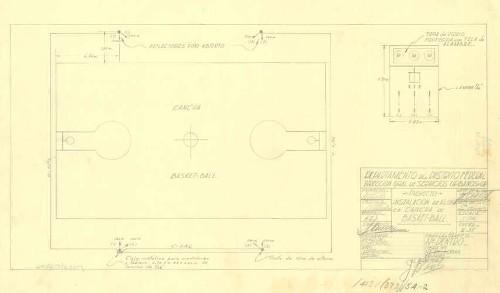 Imagen de Proyecto de la instalación del alumbrado para la cancha de basketball del campo deportivo obrero
