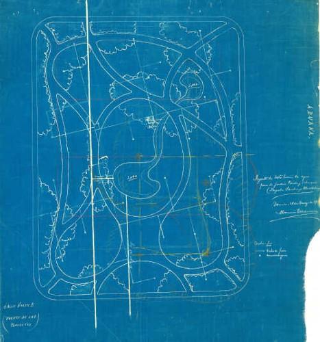 Imagen de Proyecto de la distribución del sistema de riego para el jardín Cerda y Echeverría en la plazuela de Santiago Tlatelolco