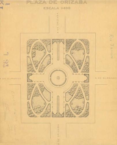 Imagen de Planta de conjunto del jardín Río de Janeiro (antes plaza de Orizaba)