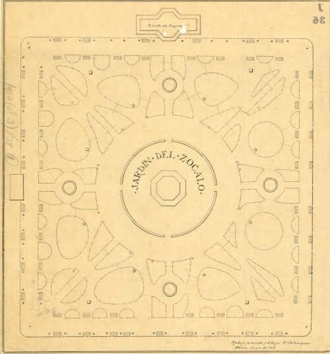 Imagen de Planta de conjunto y propuesta para reformar el Jardín de la Plaza de la Constitución