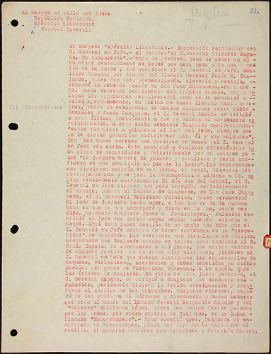 Imagen de Informe de Jenaro Amezcua sobre la muerte de Emiliano Zapata
