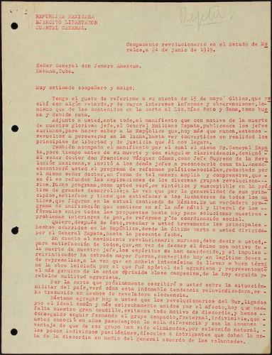 Imagen de Manifiesto de los jefes zapatistas