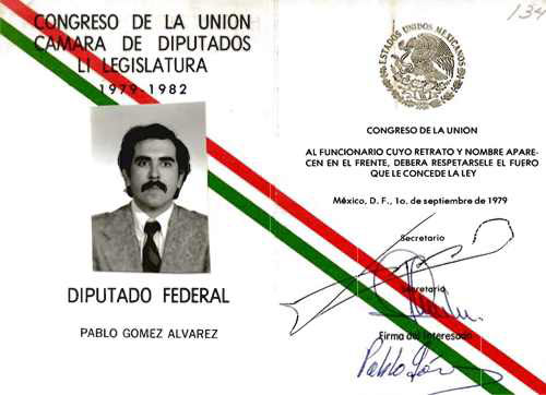 Imagen de Credencial de diputado federal