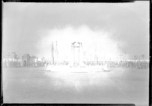 Imagen de Varios aspectos de la construcción y estado actual del Campo deportivo Venustiano Carranza
