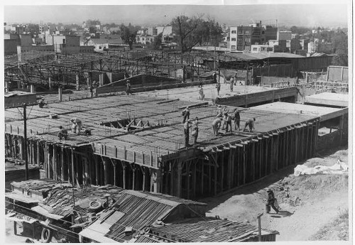 Imagen de Construcción del Mercado en la col. Narvarte