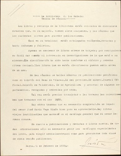 Imagen de Biblioteca de la Embajada de México en Francia