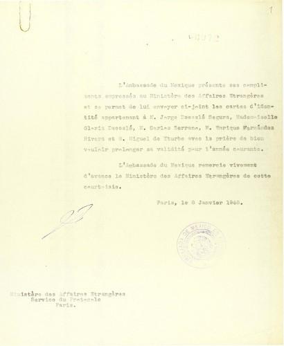 Imagen de Personal diplomático de México en Francia