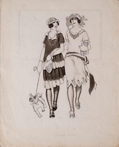 Imagen de Figuras del teatro. Coristas rumbo al ensayo