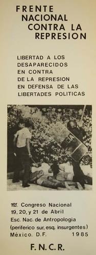 Imagen de 1er Congreso Nacional del Frente Nacional Contra la Represión (propio)