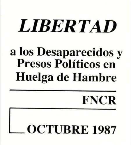 Imagen de Libertad a los desaparecidos y presos políticos en huelga de hambre (propio)