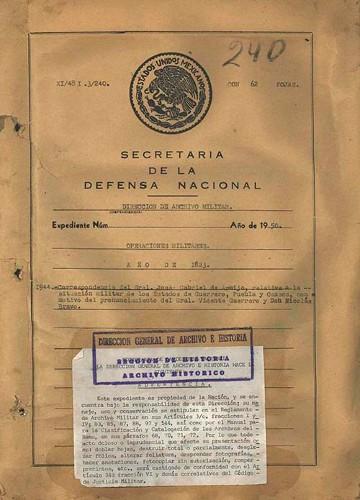 Imagen de Correspondencia relativa al pronunciamiento de los Generales Guerrero y Bravo en los estados del sur (atribuido)