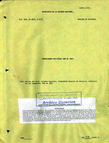 Imagen de Partes del General Vicente Guerrero, Comandante General de Veracruz, relativos a los españoles (propio)