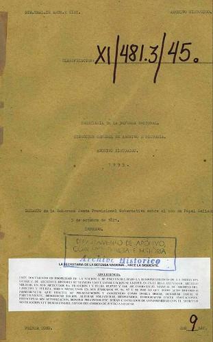 Imagen de Decreto de la Soberana Junta Provisional Gubernativa sobre el uso de papel sellado (propio)